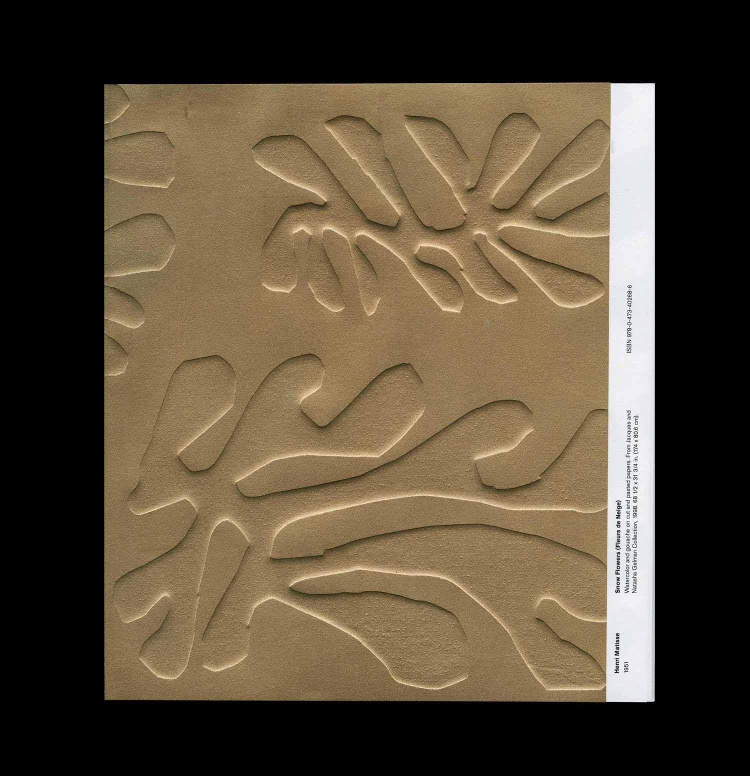 Bronze embossed cover of Henri Matisse: The Cut-Outs